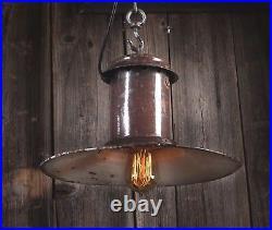 1/10 SPO- 200 Alte draußen Industrie Emaille Lampe Fabrik Hängelampe LOFT LAMP