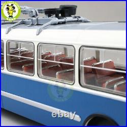 1/43 Classic ZIU 5 Trolleybus Soviet Union Russia Diecast Model Bus Car Blue