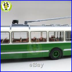 1/43 Classic ZIU 5 Trolleybus Soviet Union Russia Diecast Model Bus Car Green