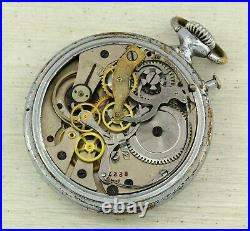 1940's RARE Kirovskie K-43 pocket watch chronograph Right time (Vernoe Vremia)