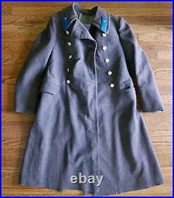 1940s WWII Soviet Union Russian Military Air Force Captain Wool Winter Coat