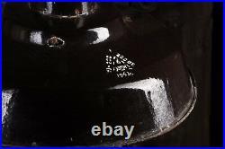 1963 Alte draußen Emaile Industrielampe Loftlampe Fabrik Ø40cm LOFT LAMP