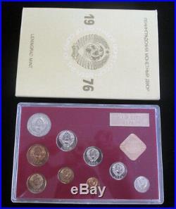 1976 Russia Ussr Cccp Soviet Union Official Leningrad Mint Prooflike Set (9)
