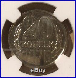 1976 USSR 20 Kopeks NGC PL 66 RUSSIA Soviet Union