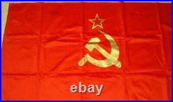 1985 Original Ussr Cccp National Soviet Red Flag Sickle Hammer Banner Communism1