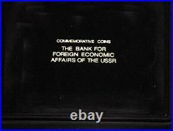 1991 Russia Ussr Cccp Proof Set (6) 1992 Barcelona Olympic Games Box, Coa