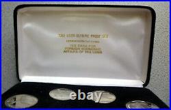 1991 Russia Ussr Cccp Proof Set (6) 1992 Barcelona Olympics Box, Coa -rare