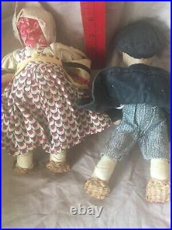 (2) RUSSIAN STOCKINETTE TANIKA & VANIKA1930 Soviet Union Handmade(BOTH)