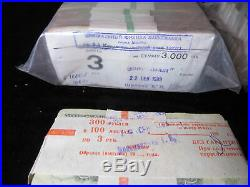 3 roubles 1961(91) USSR 1000 banknotes in sealed bank bundle