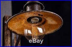 40 50er Alte draußen EISEN Lampe Fabrik Wandlampe LOFT LAMP Fabriklampe Metal
