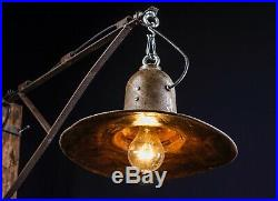 40 50er Alte draußen GUSSEISEN Lampe Fabrik Hängelampe LOFT LAMP Shabby Eissen