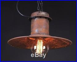 40-50er Alte draußen Industrielampe Loftlampe Fabriklsmpe Hängelampe LOFT LAMP