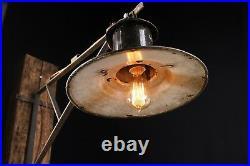 50er SPO- 200 Alte draußen Industrie Emaille Lampe Fabrik Wandlampe LOFT LAMP