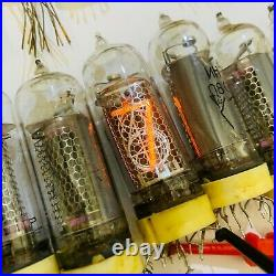 6x IN-14 nixie tubes for DIY clock USED