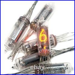 6x IN-16 rare fine big grid nixie digit tubes for DIY clock NOS