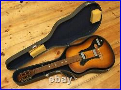 7-string acoustic electric guitar Soviet Russian vintage RARE with hard case