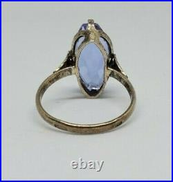 875 Silver USSR Vintage Ring Stone Soviet Period 2.87 gr. Beautiful Jewelry