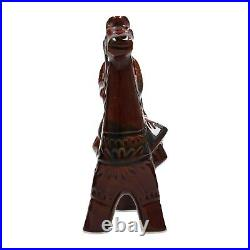 A vintage USSR pottery horse and riders sculpture Zakarpatje 1960's 60's