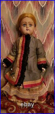 ANTIQUE RUSSIAN Soviet Union BISQUE HEAD COMPOSITION DOLL TAGGED
