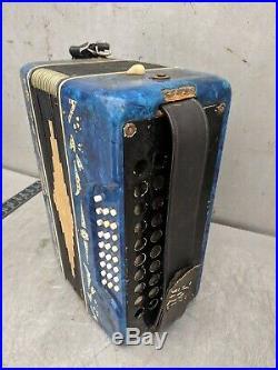 Accordion Type Button Bayan Musical Instrument Vintage Retro USSR Soviet