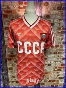 Adidas 1988 Soviet Union (CCCP) Home Shirt Size Medium Mens 38/40'' Red & White