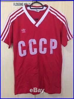 Adidas Cccp Soviet Union Russia 1985 Football Soccer Jersey Shirt S Vtg #10