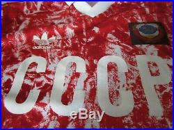 Adidas Russia CCCP 1989-1991 Home Soccer Jersey Football Shirt Mailot S Soviet