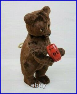 Antique USSR Wind Up Mechanical Bear Doll Toy with Key Working Figurine TEDDY