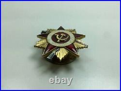 Badge gold award Patriotic war WW I Class medal USSR order enamel pin ORIGINAL