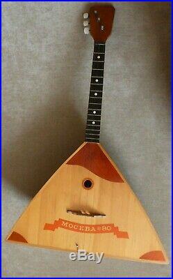 Balalaika USSR, rare, Moscow-80, Olympics, 3 strings, original