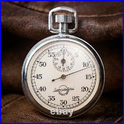 Big Stopwatch Vintage Sport Zlatoust watch factory USSR Movement 1970s