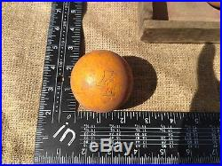 Billiard Balls original wood box Antique vintage