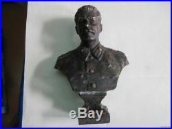 Bronze Bust Josef Stalin (1947) SIGNED-Militaria CCCP RUSSIA USSR UdSSR RARE