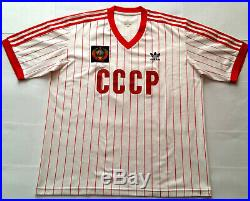 CCCP 1982 USSR SOVIET UNION Adidas Originals Shirt Jersey Maillot 1980s RUSSIA