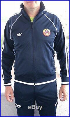 CCCP USSR Adidas vintage Soviet Union Russia track suit mens uniform