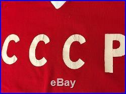 CCCP USSR Soviet Union ultra rare vintage Hockey jersey size M-L