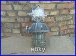 Ceiling Pendant Lamp Light Factory Fixture Steampunk Explosion Big Industrial
