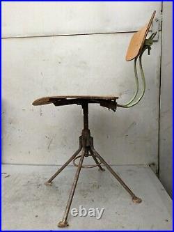 Chair Swivelling Industrial Office Desk Vintage Retro
