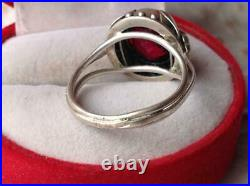 Chic Rare Vintage Soviet USSR Russian Antique Ring Sterling Silver 875 Size 10