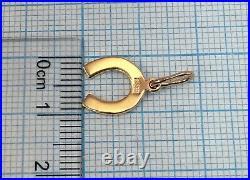 Chic Vintage Original Soviet Rose Gold Pendant 583 14K USSR, Rose Gold 583 14K