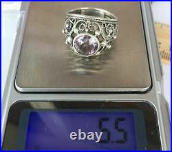 Chic Vintage Ring Sterling Silver 875 Alexandrite Stone Antique USSR Size 8