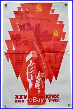 Communist Party Of Soviet Union Republics Large Ussr Russian Propaganda Poster