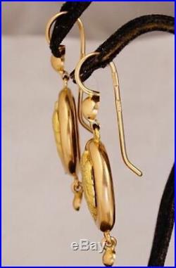 Cute Rare Vintage SAMOVARS Earrings USSR Soviet Russian Solid Rose Gold 583 14K