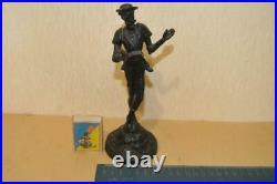 Don Quixote knight USSR russian Cast iron metal statue figurine Vintage 4056u