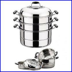 Dumpling Steamer Stainless Steel Oriental Uzbek Mantovarka New