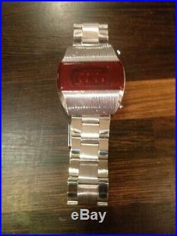 Elektronika 1 vintage LED watch b6-03 terminator. USSR, Soviet Union, Russia