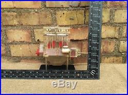 Engine Motor Working Old Rare Vintage Metal + Plastic Model USSR ZID