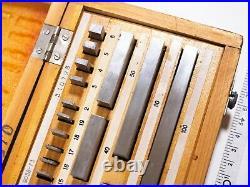 FromEU Precision Metric Slip Gauge Block Set 0-100mm (38 pcs) Grade 1 MINT