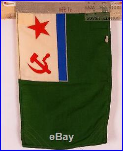 Genuine original Soviet union Russian USSR Red Army NAVY naval force flag banner