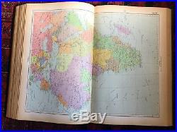 HUGE Russian world atlas ATLAS MIRA / 1954 Soviet Union USSR